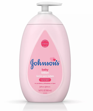 Johnson's Moisturizing Pink Baby Lotion with Coconut Oil 16.9oz