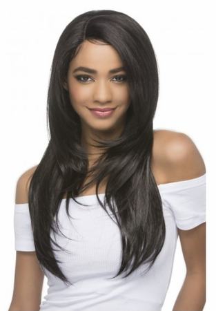 Vivica A Fox Rabia Swiss Lace Front Wig Human Hair New 2019