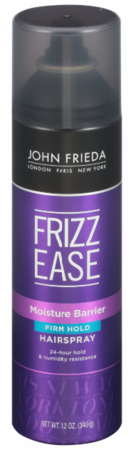 John Frieda Frizz Ease Moisture Barrier Firm Hold Hair Spray 12 oz