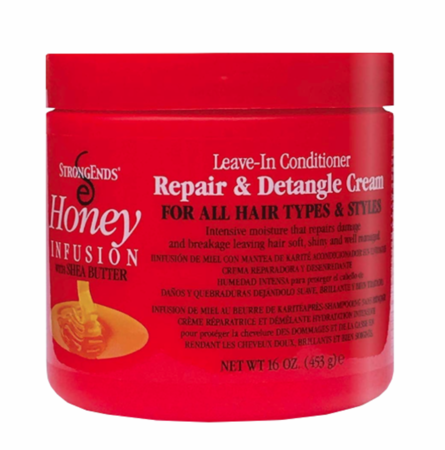 Strong Ends Honey Leave-In Conditioner Repair & Detangle Cream 16 oz