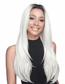 Bobbi Boss Aniah 360 Swiss Lace Wig Human Hair Blend