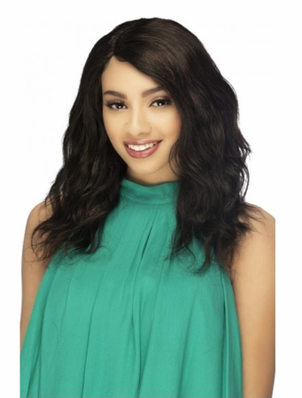 Vivica A Fox Asanah Lace Front Wig Human Hair New 2019