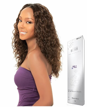 Sensual Collection Indian Remy Collection Wet & Wavy 5 Pcs Jerry Curl 16