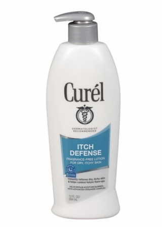 Curel Itch Defense Calming Body Lotion for Dry Itchy Skin 13 oz