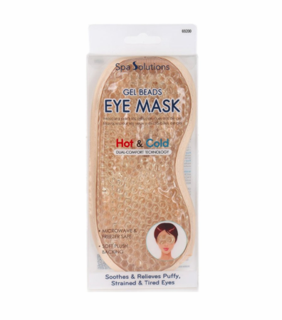 Cala Spa Solutions Gel Beads Eye Mask Gold Hot and Cold 69200