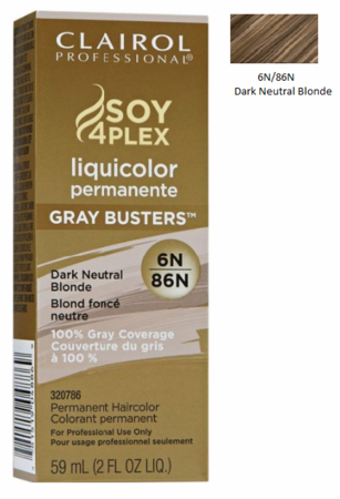 Clairol Professional Soy4Plex Permanent Haircolor 6N/86N Dark Neutral Blonde