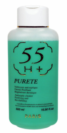 55 H+ Purete Antiseptic Cleaner Purifying & Revitalizing Lotion 16.8 oz / 500ml