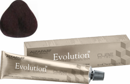 Alfaparf Milano Evolution of the Color Cube 3D Tech Hair Color 4.65 Medium Red Mahogany Brown 2 oz 2019