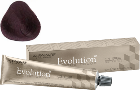 Alfaparf Milano Evolution of the Color Cube 3D Tech Hair Color 5.5 Light Mahogany Brown 2 oz 2019