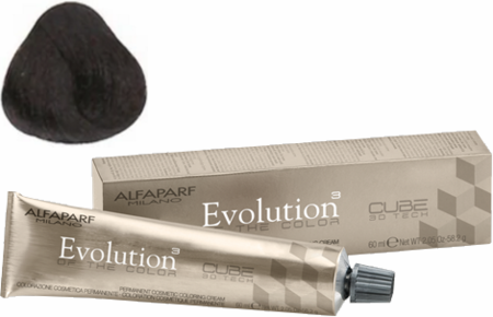 Alfaparf Milano Evolution of the Color Cube 3D Tech Hair Color 5.53 Light Mahogany Golden Brown 2 oz 2019