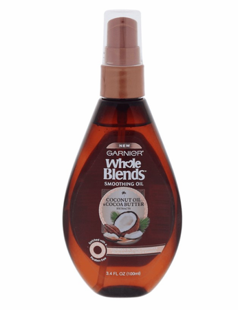 Garnier Whole Blends Smoothing Oil with Coconut Oil & Cocoa Butter Extracts 3.4 oz