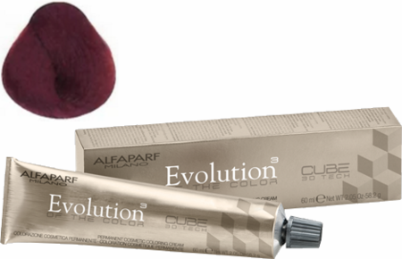 Alfaparf Milano Evolution of the Color Cube 3D Tech Hair Color 5.66I Light Intense Red Brown 2 oz 2019