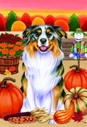 "Australian Shepherd -  Tomoyo Pitcher Garden Flag 12""x17"""