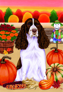 "Springer Spaniel -  Tomoyo Pitcher Garden Flag 12""x17"""