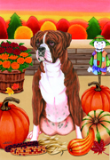 "Boxer Brindle -  Tomoyo Pitcher Garden Flag 12""x17"""