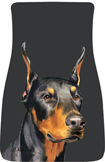 Doberman Pinscher Car Mats (Pr.)