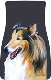 Collie Car Mats (Pr.)