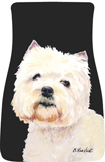West Highland Terrier Car Mats (Pr.)