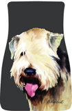 Soft-coated Wheaton Terrier Car Mats (Pr.)