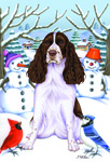 "Springer Spaniel -Tomoyo Pitcher Garden Flag 12""x17"""