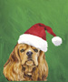 Cocker Spaniel - Buff  - Van Vliet Christmas Large Flag