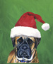 Bull Mastiff  - Van Vliet Christmas Large Flag