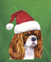 Cavalier King Charles - Blenheim  - Van Vliet Christmas Large Flag