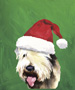 Soft Coated Wheaton Terrier  - Van Vliet Christmas Large Flag