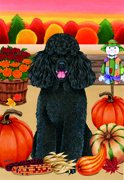 "Poodle Black -  Tomoyo Pitcher Garden Flag 12""x17"""