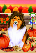 "Sheltie -  Tomoyo Pitcher Large Flag 28""x40"""