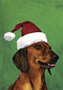 Dachshund - Red  - Van Vliet Christmas Large Flag