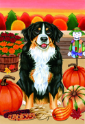 "Bernese Mountain Dog -  Tomoyo Pitcher Garden Flag 12""x17"""