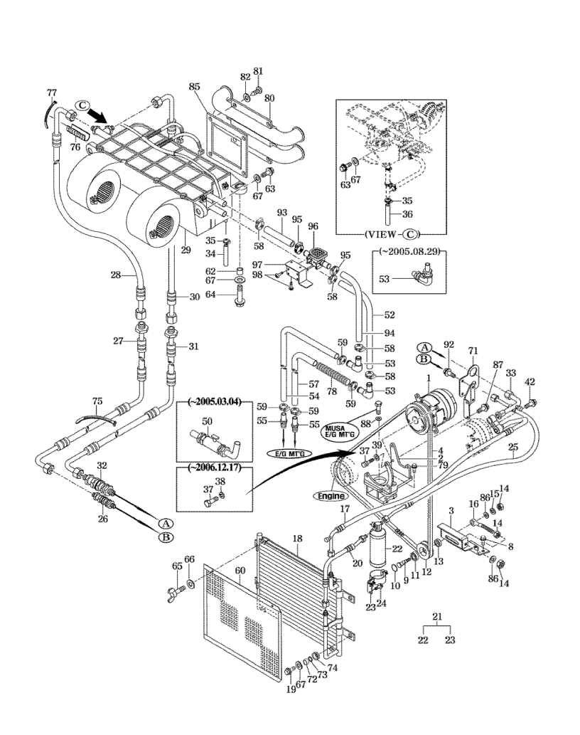 Hose For Dryer On Air Conditioning 7010 Mahindra Tractor Engine Diagram