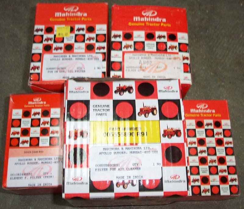 DISCOUNT SERVICE FILTER PACK FOR (LATE) E-350 MAHINDRA TRACTOR (AFTER SR # EMB 2457) (006017310B1, 001082448R92, 001081778R93, 005555890R91, 005556039R91)