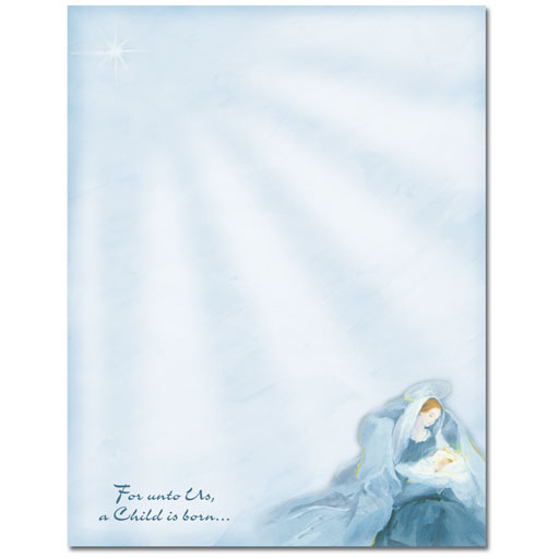 Mary With Baby Jesus Religious Christmas Holiday Printer Paper