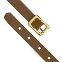 Brown Leather Luggage Tag Straps