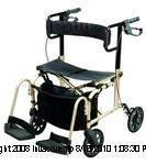 Ultra Ride Rollator Walker and Transport Chair CEXA22800