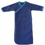 Newborn Organic Cotton Kimono Gowns -Fleece