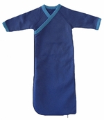 Preemie Organic Cotton Kimono Gowns -Fleece