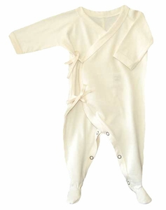 4a000e4db1 Preemie Organic Cotton Kimono Footie -Natural ...