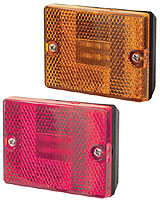 Square LED Marker/Clearance Light, RED