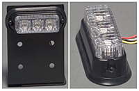 3-LED Surface Mount Light - Black