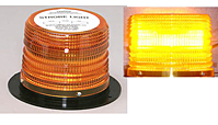 LED 625 Series High Power Warning Lights, Flange Base - Amber - 1.6 Amperes