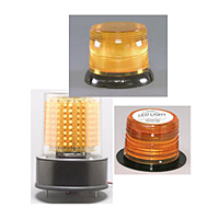 LED 625 Series High Power Warning Lights - Blue, Flange Base