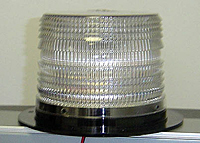 LED 625 Series High Power Warning Lights, Flange Base - Clear -