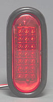 Flush Mount Oval LED Warning Light, Red
