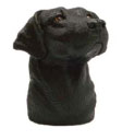 Black Lab Hitch Ball Cover
