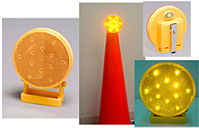 Battery-Operated Directional Warning Light - Amber
