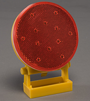 Battery-Operated Directional Warning Light - Red