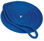 Dock Lines Double Braid Nylon (Black Blue or Gold/White) 3/8""